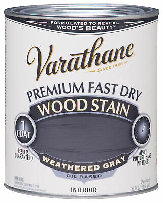 Varathane 269398 1/2 Pint Weathered Gray Fast Dry Wood Stain,No 269398
