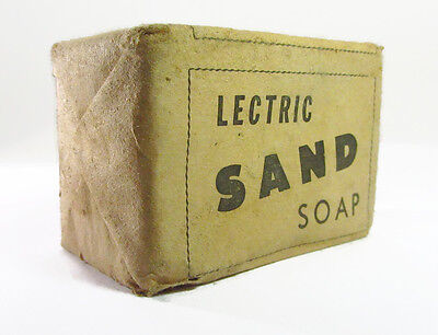 LECTRIC SAND SOAP Vintage Cleaner Original packet Collectable CEDEL Products