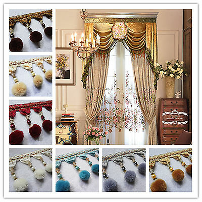 Tassel Fringe Upholstery Curtain Trim Costume/Craft/Sewing /Wedding 1M