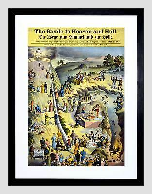 Allegory Religious Text Metaphor Unknown Road Heaven Hell Framed Print B12X3920