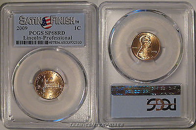 2009 P Lincoln Professional 1c Cent PCGS SP68RD Satin Finish