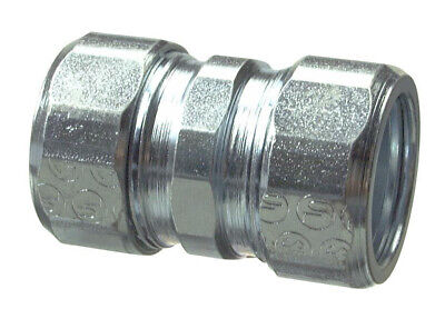 Halex 63615 1-1/2 In. Galvanized Steel Rigid Compression Coupling,No 63615