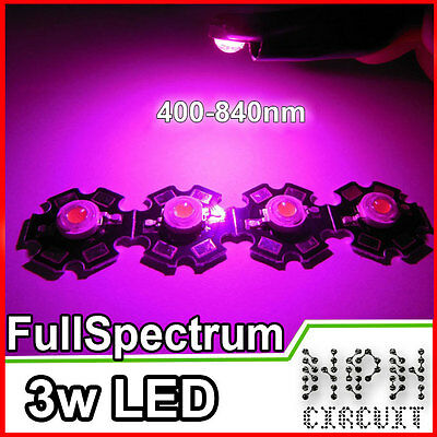 10x LED 3W Full Spectrum CRESCITA PIANTE e Acquario Power Led 700mA Plant Grow