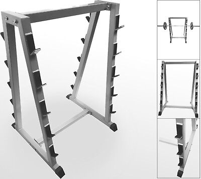 BodyRip Barbell Storage Rack Stand Holds 10 Bars Home Gym Weight Lifting Storage