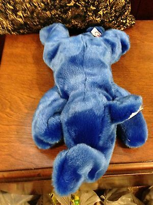 RETIRED TY 1st EDITION BEANIE BUDDY  DARK BLUE PEANUT  THE ELEPHANT MWMT