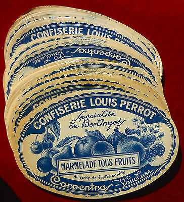 Confiserie Louis Perrot : Carpentras :  Lot 10 Etiquettes Anciennes   !