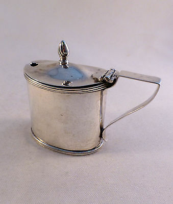 English Sterling Mustard Pot/Chester W/ Cobalt Liner Ca 1900