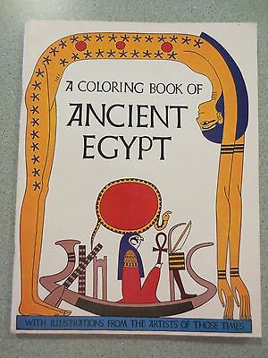 A Coloring Book of Ancient Egypt (1969) Uncolored Unused
