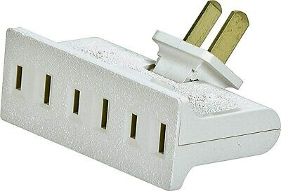 Tap 3 Outlet Swivel2p/3w White,No BP1792W-SP,  Cooper Wiring Devices Inc