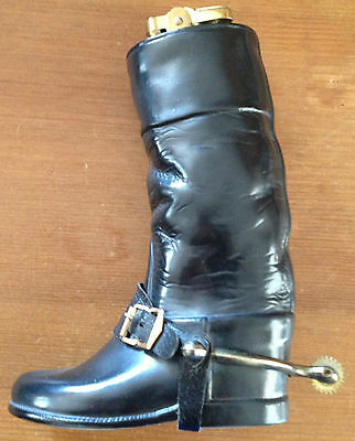 Vintage 1940's ceramic table lighter  formed as a leather riding / hunting boot