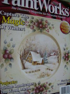 Paint Works Magazine January 2001: Winter Landscapes, Country Church, Village Sc