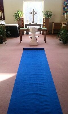 50ft Deluxe Dark Blue Fabric Wedding Aisle Runner