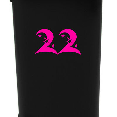 3x WHEELIE BIN NUMBERS DECALS STICKERS HOME DECOR GARDEN WASTE/GARDEN ADDRESS
