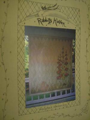 Hollyhock Memories Quilt Sewing PATTERN Flowers, Rabbits- Rabbits Haven Designs