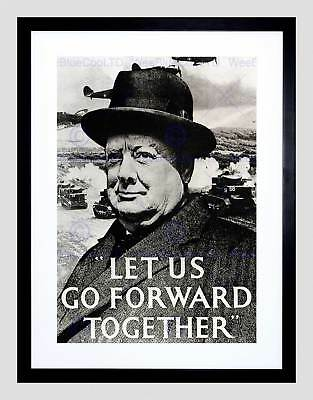 War WWI WW2 UK Churchill Pilot Battle Britain Quote Framed Art Print 12x16/""