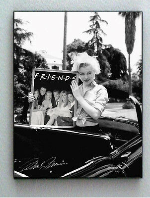 Framed Marilyn Monroe holding FRIENDS TV Show faux signed Limited Edition