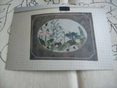 Oval Garden Rug Hooking, Embroidery Canvas- Lady Slipper, Wild Ginger, Harebells