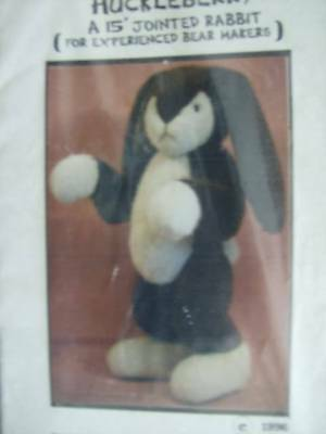 Huckleberry Toy Sewing PATTERN 15 Inch Jointed Rabbit By Jo Ann Klassen