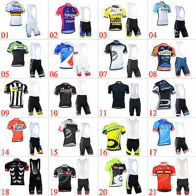 New Mens Outdoor Bike Riding Jerseys Bib Shorts Suit Cycle Maillot Tights Kits