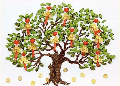 Ribbon Embroidery Kit Wealth Lucky Money Tree Needlework Craft Kit RE4004