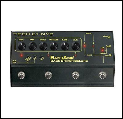 Tech 21 SansAmp Bass Driver Deluxe Preamp & DI Effects Pedal BSDR-DLX