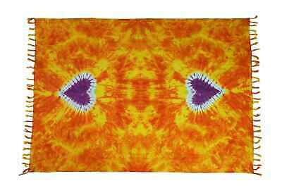 Sarong Pareo Wickelrock Dhoti Lunghi Tuch Strandtuch Loop Schmetterling Schal M4