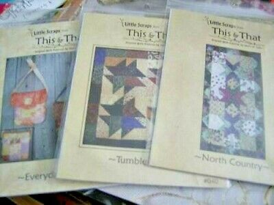 Little Scraps From This & That Quilt PATTERN Your Choice- North Country, Tum