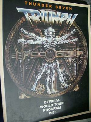Triumph Thunder Seven Official World Tour Program Book 1985 - 11x14 Inches