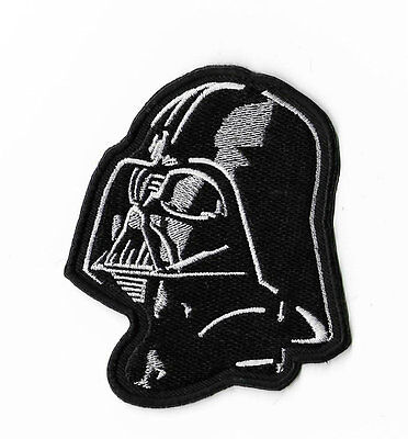 Darth Vader Mask Patch Embroidered Badge Sith Lord Helmet Costume Hat Cap Bag