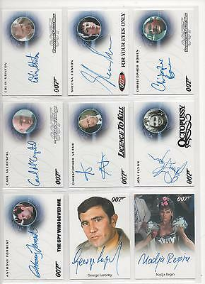 James Bond- 2015 Archives Autograph Card Full Bleed George Lazenby