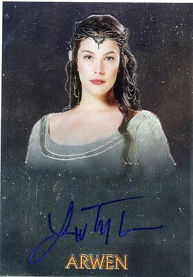 2004 Topps Chrome Lord Of The Rings Trilogy Arwen Liv Tyler Autograph