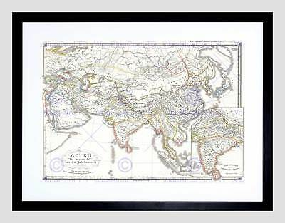 1855 Spruner Map Asia 200 Bce Han China Seleucid Empire Framed Print B12X2196