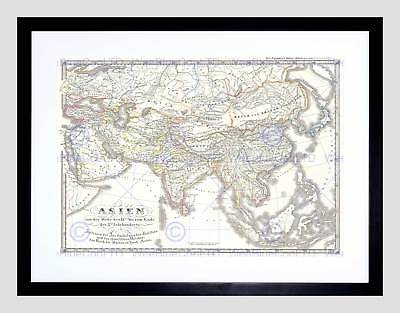 1855 Spruner Map Asia In The 9Th And 10Th Centuries Vintage Art Print B12X2199