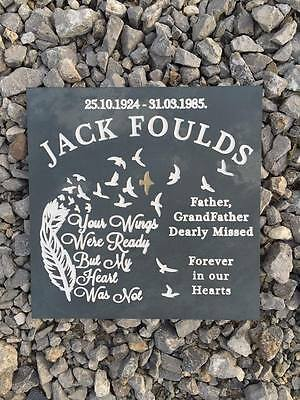 Personalised Deep Engraved Memorial Gravestone Headstone Plaque Funeral