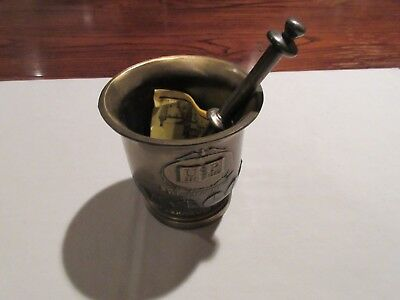 Mortar And Pestle Usp Est 1820 All Brass