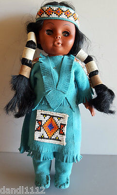 """Native American Rubber Indian Doll With Papoose  11"""""""