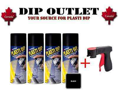 Plasti Dip Wheel Kit (4 Cans) W/ Spray Can Trigger - Black - No Tax - Canada