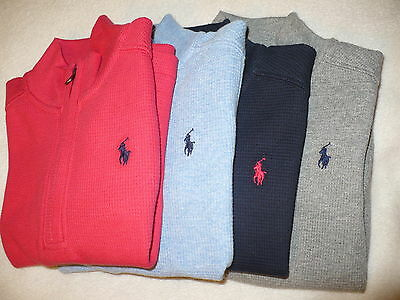 $49 New Nwt Ralph Lauren Polo Toddler Boys 1/4 Zip Size Sz 2T 5 6 7 Pullover L/s