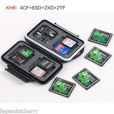 Waterproof dust-proof Memory Storage Flash Card Case for CF SD XD TF KH8-7