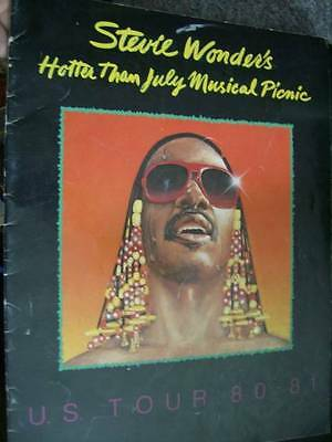 Stevie Wonder's Hotter Than July Musical Picnic Tour Program Book 1980/81