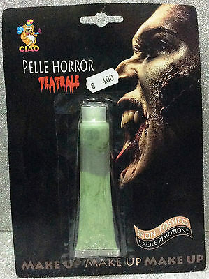 Carnevale Halloween Tubo Trucco Make Up Pelle Horror Orrorifica Teatrale Verde