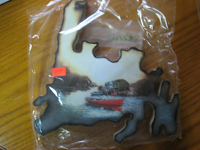 Newfoundland Wooden Wall Hanging Fishing Boat and Stage
