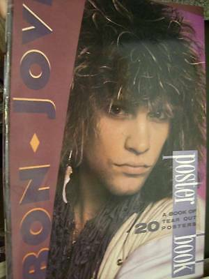 Bon Jovi Poster Book -20 Tear Out Posters- 11.75x16.5 Inches, Paperback, 1987