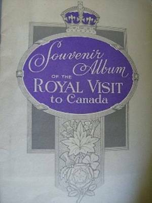 Incomplete Souvenir Album Of The Royal Visit To Canada- King George VI & Queen E