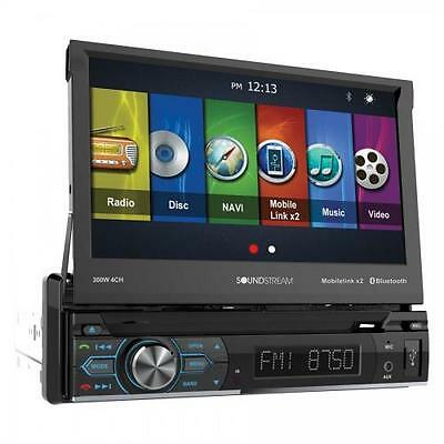 "Soundstream VRN-74HB 1 DIN Flip Up DVD/CD/MP3 Player 7"" GPS Bluetooth Android"