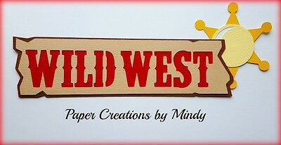 Craftecafe Mindy Western Cowboy Cowgirl title premade paper piecing scrapbook