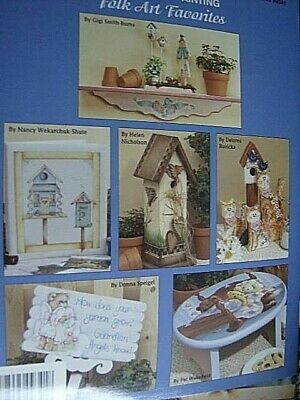 Folk Art Favorites Painting Book- Lessons In Painting & 4 Worksheets, Plaid- 6 D