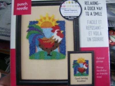 Rooster (Good Morning Sunshine) Punch Needle Kit -5x7 Inches- Dimensions