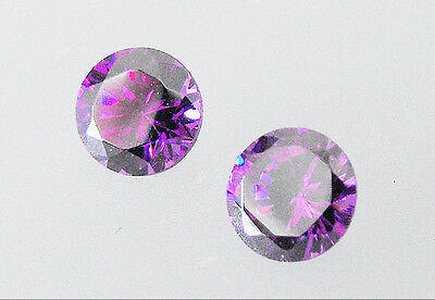 Natural Amethyst 5mm Round Cut Dark Colour Loose Gemstone Pack of 2