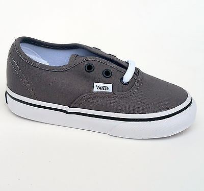 ed9021747b Vans Authentic Pewter Canvas Infant Toddler Baby Boy Girl Shoes Size 7.5  Toddler